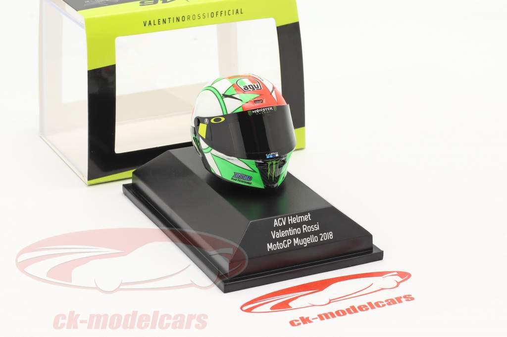 Valentino Rossi 3rd MotoGP Mugello 2018 AGV helmet 1:8 Minichamps