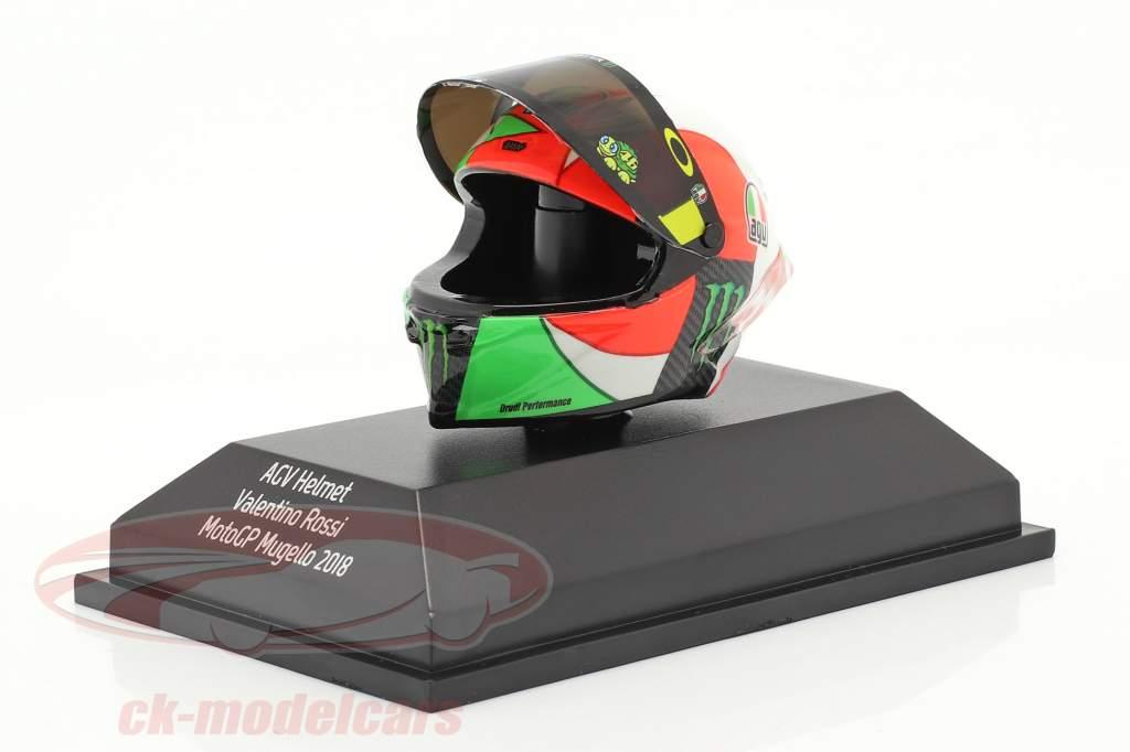 Valentino Rossi 3e MotoGP Mugello 2018 AGV casque 1:8 Minichamps