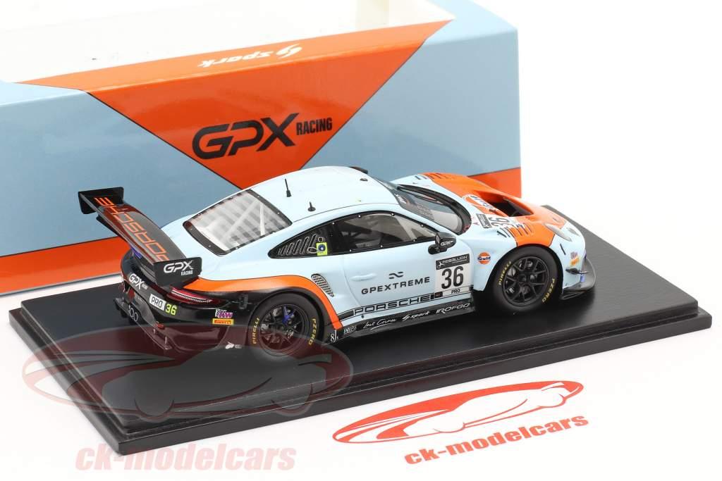 Porsche 911 GT3 R GPX Gulf #36 Sieger Coppa Florio 12h Sizilien 2020 1:43 Spark