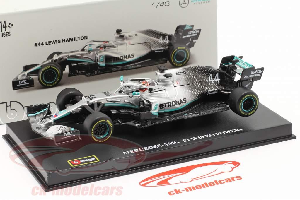 Lewis Hamilton Mercedes-AMG F1 W10 EQ #44 formel 1 Verdensmester 2019 1:43 Bburago