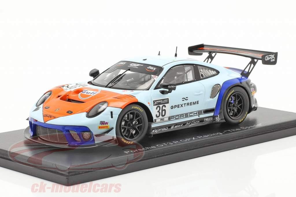 Porsche 911 GT3 R GPX Gulf #36 vinder Coppa Florio 12h Sizilien 2020 1:43 Spark