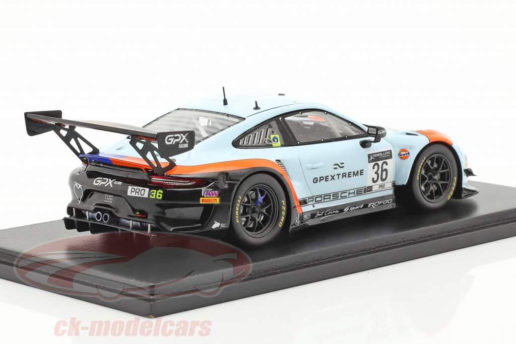Porsche 911 GT3 R GPX Gulf #36 winnaar Coppa Florio 12h Sizilien 2020 1:43 Spark