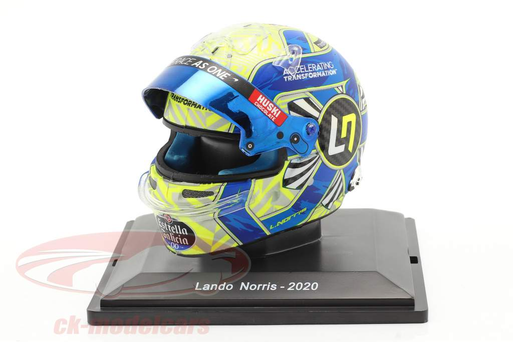 Lando Norris #4 McLaren F1 Team formula 1 2020 helmet 1:5 Spark