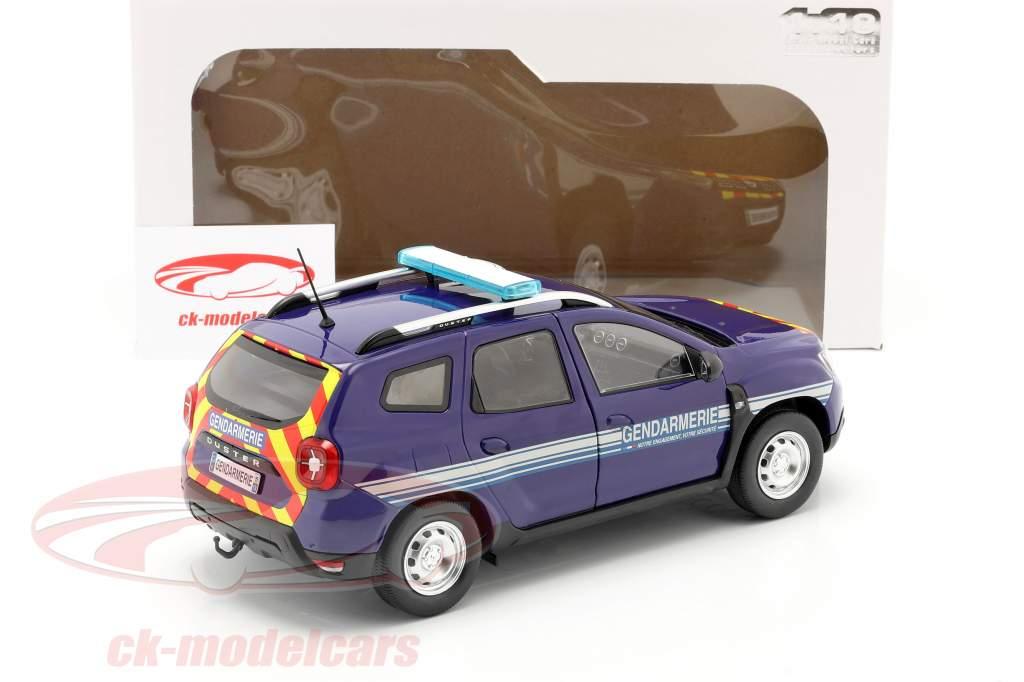 Dacia Duster MK2 Gendarmerie year 2018 blue 1:18 Solido