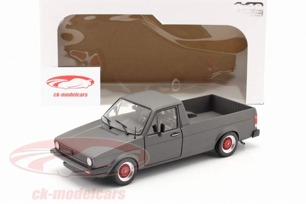 Volkswagen VW Caddy MK1 Custom II Année de construction 1982 tapis gris foncé 1:18 Solido
