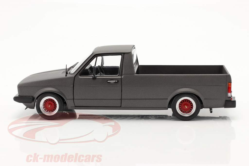 Volkswagen VW Caddy MK1 Custom II Año de construcción 1982 estera gris oscuro 1:18 Solido
