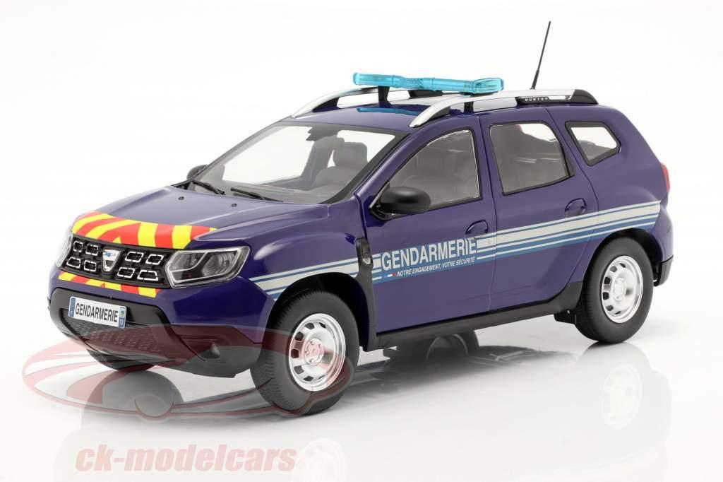 Dacia Duster MK2 Gendarmería Año de construcción 2018 azul 1:18 Solido