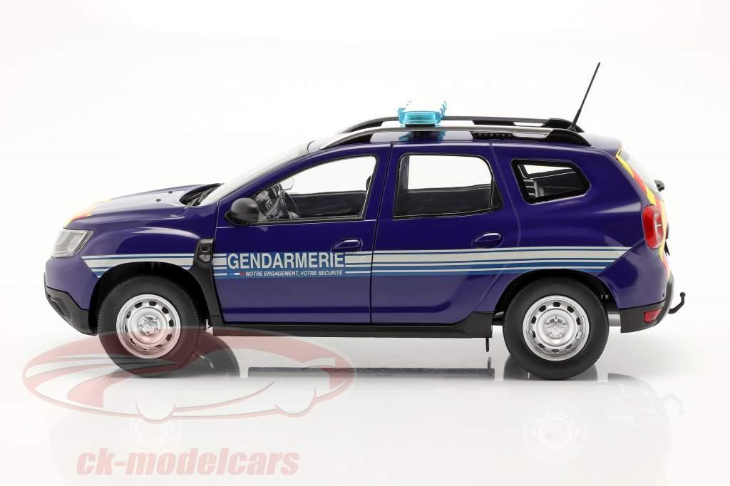 Dacia Duster MK2 Gendarmerie Ano de construção 2018 azul 1:18 Solido