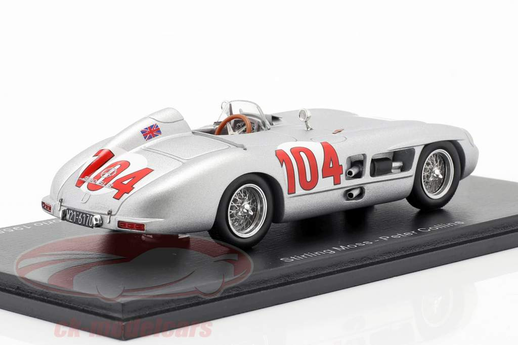 Mercedes-Benz 300 SLR #104 Sieger Targa Florio 1955 Moss, Collins 1:43 Spark