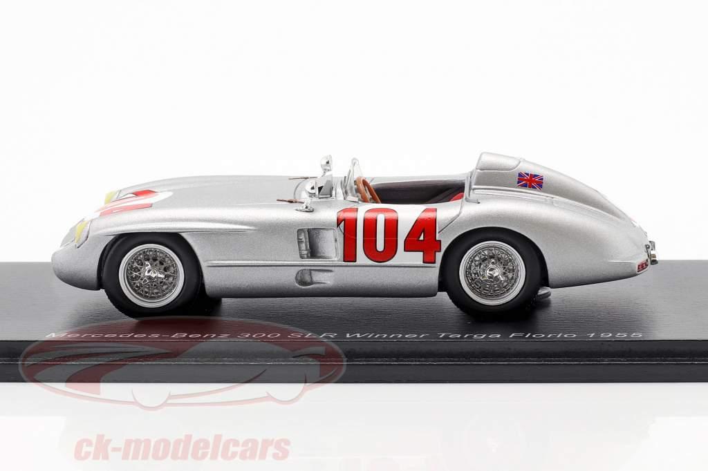 Mercedes-Benz 300 SLR #104 winnaar Targa Florio 1955 Moss, Collins 1:43 Spark