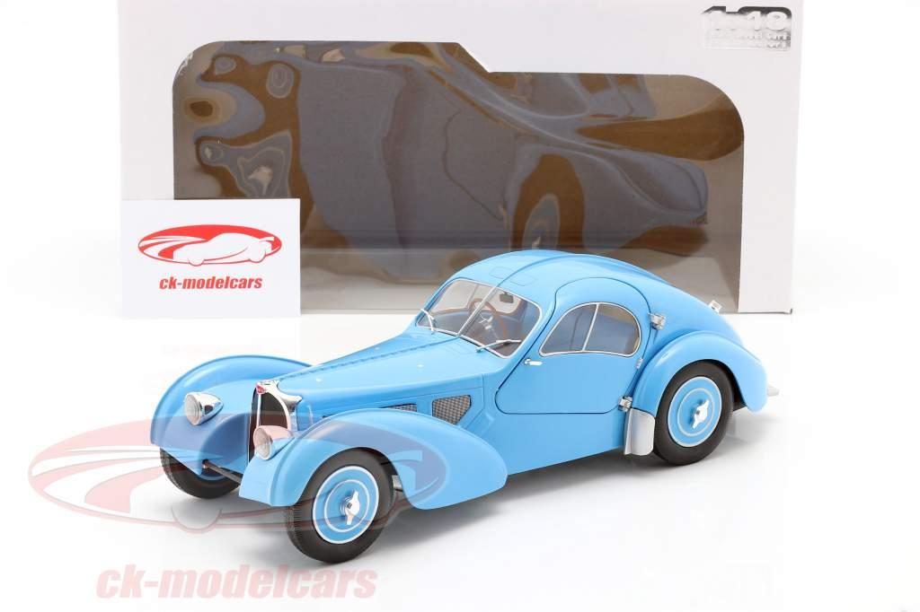 Bugatti Type 57 SC Atlantic Byggeår 1938 Lyseblå 1:18 Solido