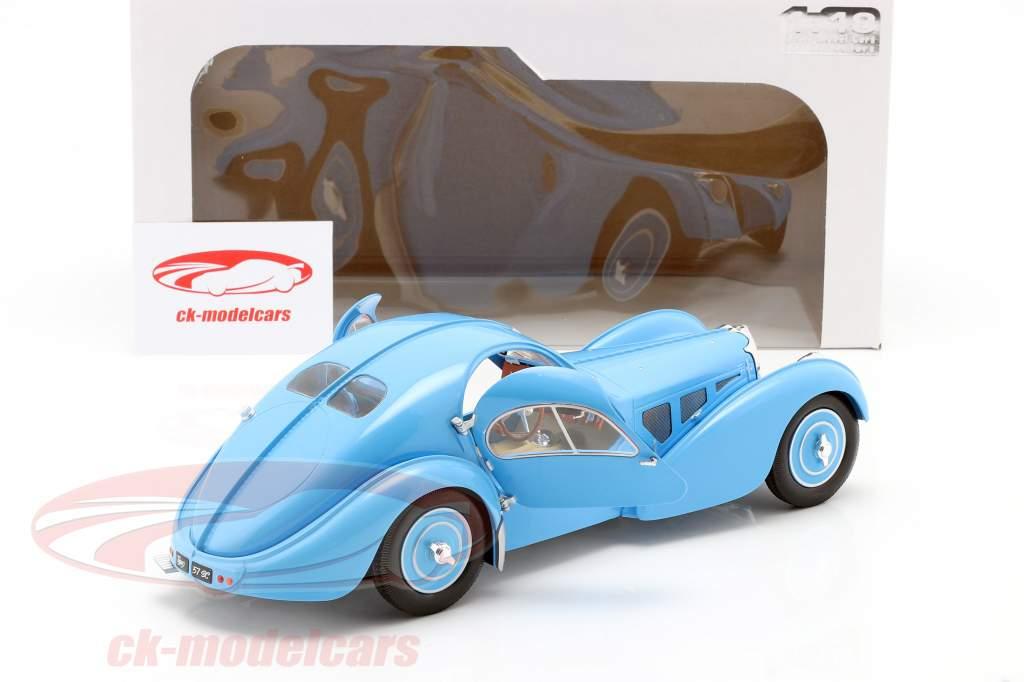 Bugatti Type 57 SC Atlantic Année de construction 1938 Bleu clair 1:18 Solido