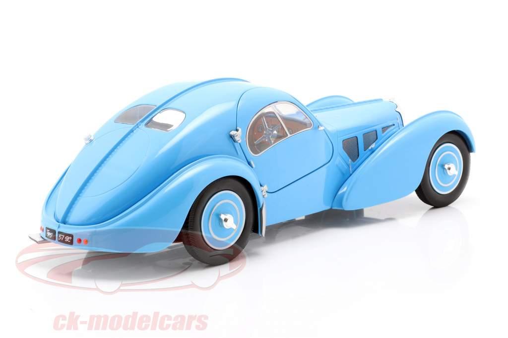 Bugatti Type 57 SC Atlantic Año de construcción 1938 Azul claro 1:18 Solido