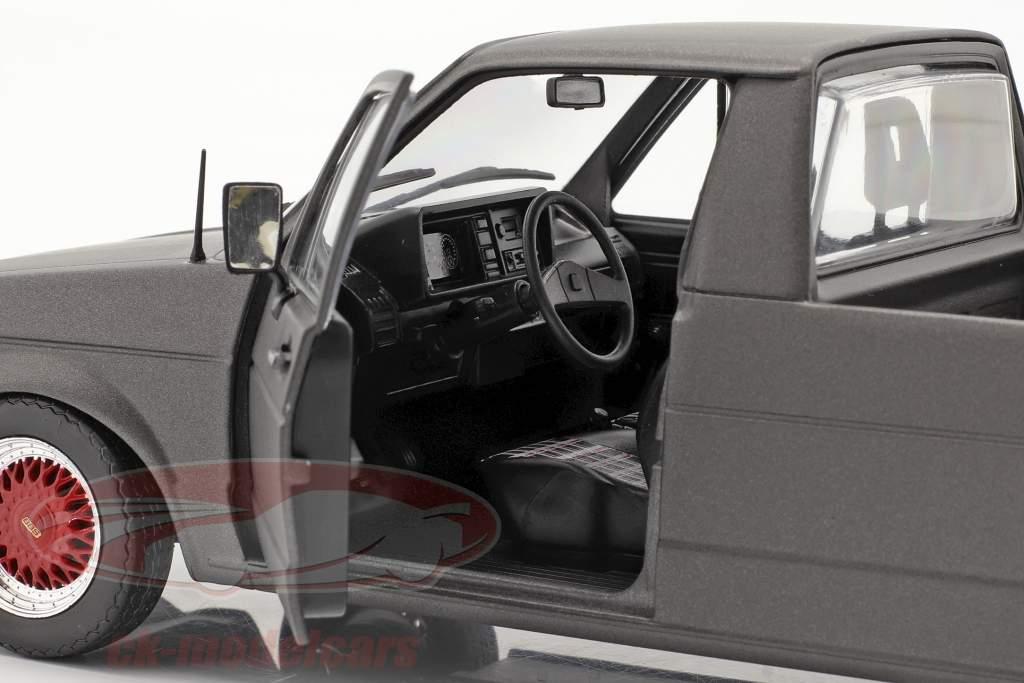 Volkswagen VW Caddy MK1 Custom II Anno di costruzione 1982 stuoia grigio scuro 1:18 Solido