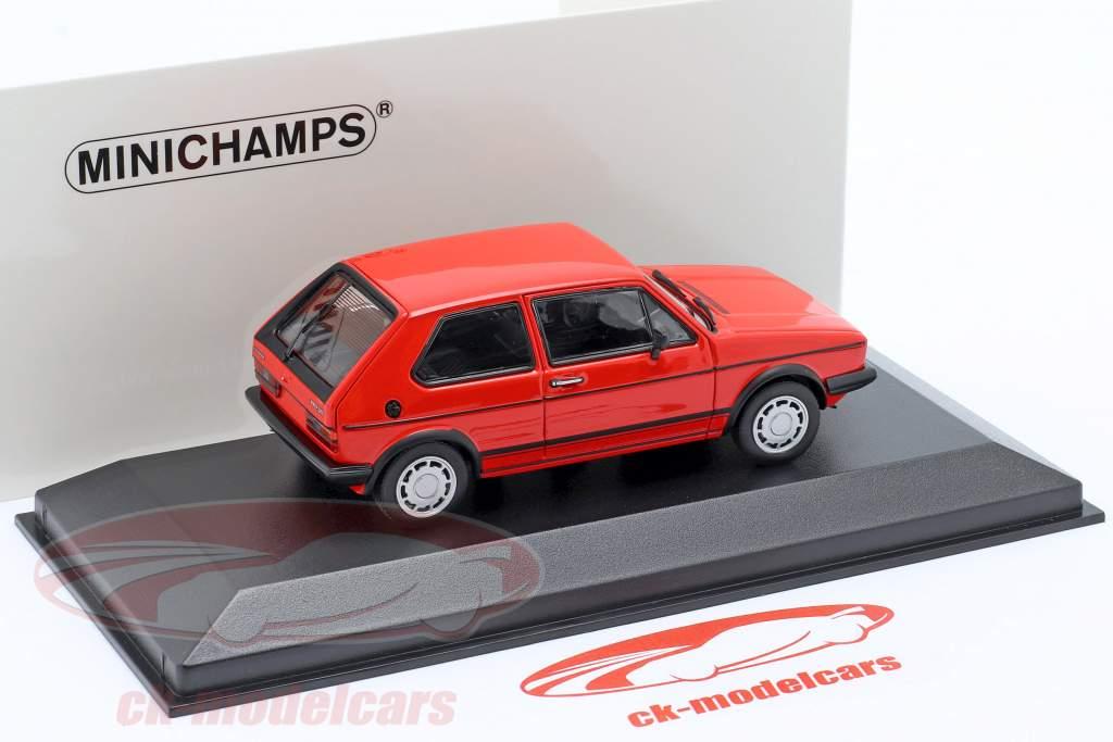 Volkswagen VW Golf 1 GTi 建设年份 1983 红 1:43 Minichamps
