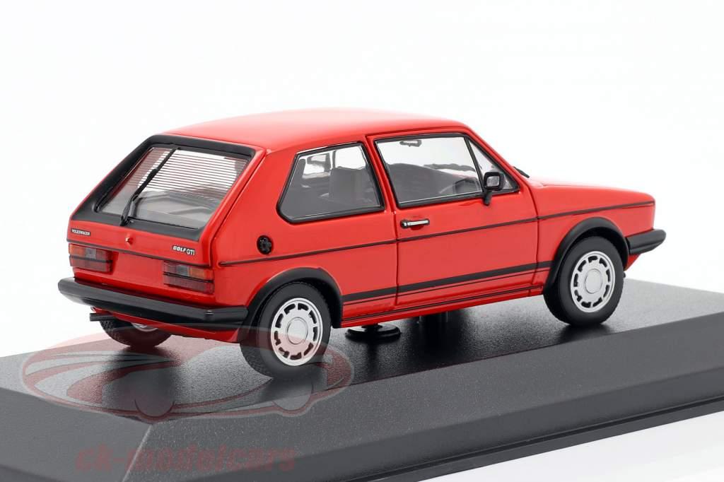 Volkswagen VW Golf 1 GTi Byggeår 1983 rød 1:43 Minichamps