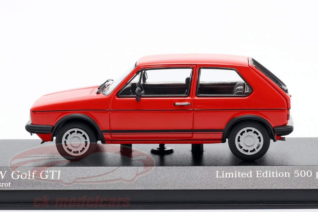 Volkswagen VW Golf 1 GTi Bouwjaar 1983 rood 1:43 Minichamps