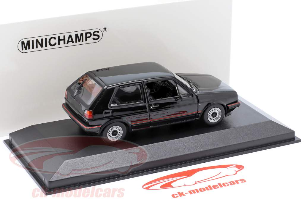 Volkswagen VW Golf II GTi year 1985 black 1:43 Minichamps
