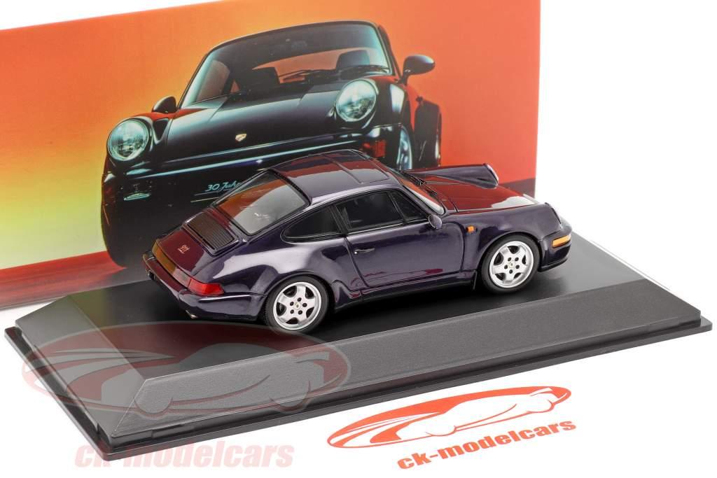 Porsche 911 Carrera 4 30 Flere år 911 lilla metallisk 1:43 Spark