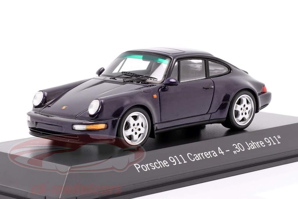 Porsche 911 Carrera 4 30 Années 911 violet métallique 1:43 Spark