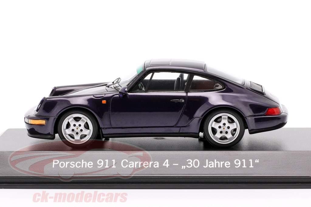 Porsche 911 Carrera 4 30 Anos 911 roxa metálico 1:43 Spark