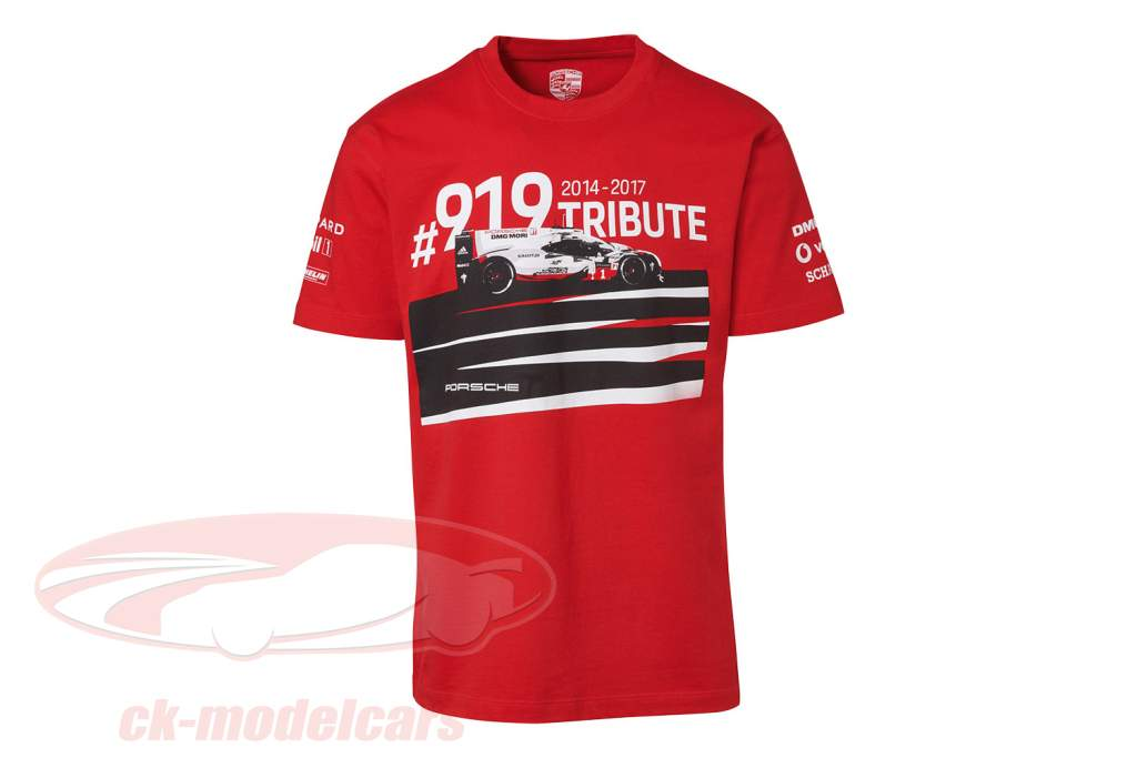 T-Shirt Porsche 919 Tribute rot