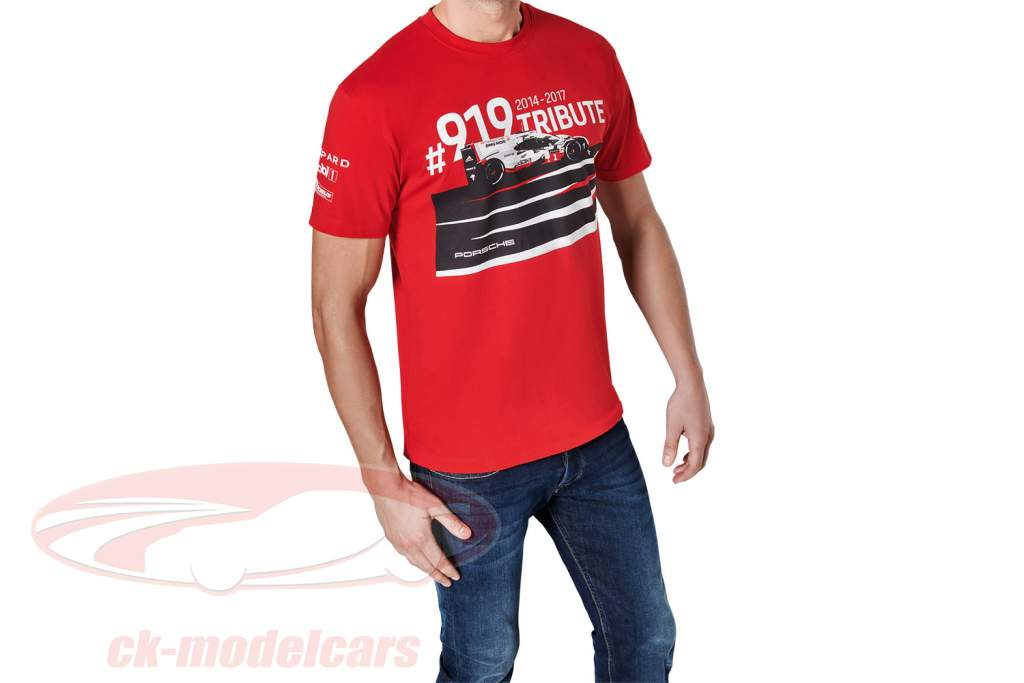 T-Shirt Porsche 919 Tribute rouge