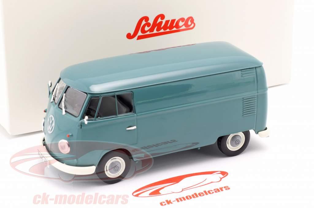 Volkswagen VW Typ 2 T1b Van de caixa azul 1:32 Schuco