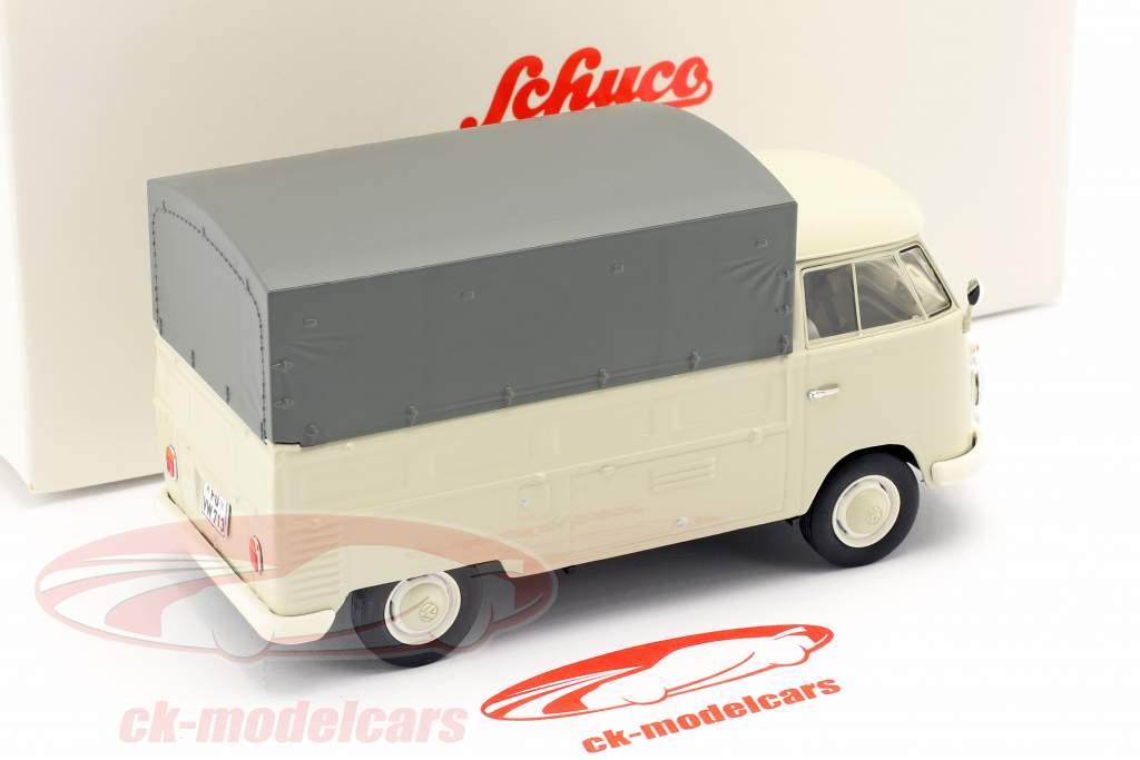 Volkswagen VW Typ 2 T1b Firhjulstrækker Med Planer beige / Grå 1:32 Schuco