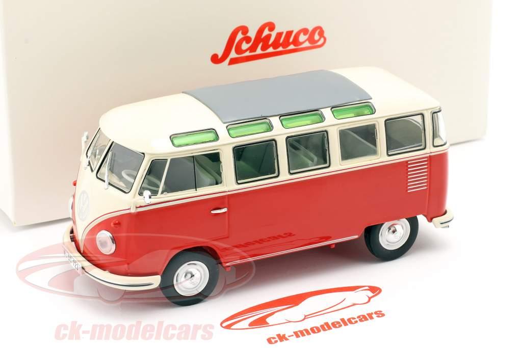 Volkswagen VW Typ 2 T1b Samba Bus rot / beige 1:32 Schuco