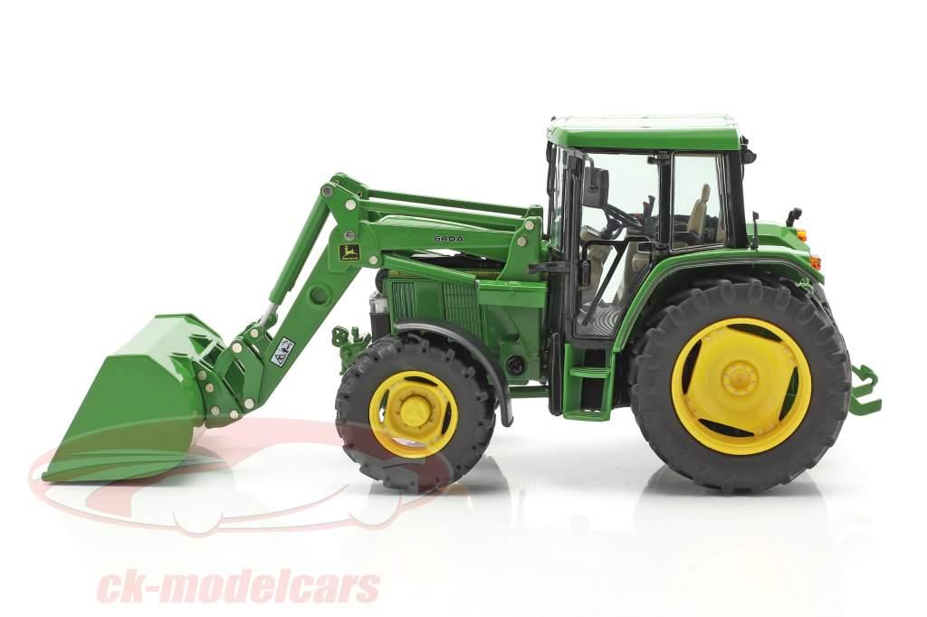 John Deere 6300 Traktor mit Frontlader Baujahr 1992-97 grün 1:32 Schuco