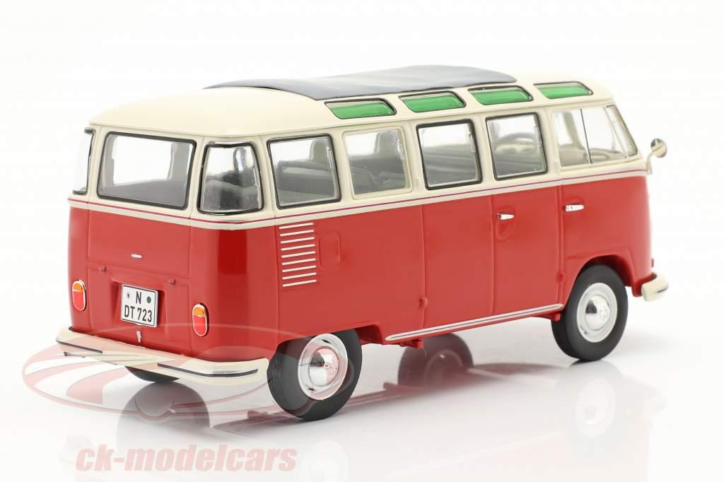 Volkswagen VW Typ 2 T1b Samba Bus red / beige 1:32 Schuco