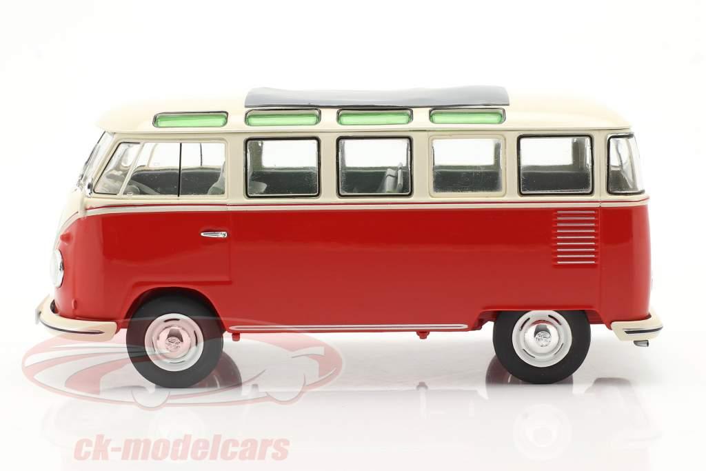 Volkswagen VW Typ 2 T1b Samba Bus rojo / beige 1:32 Schuco