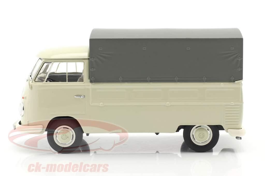 Volkswagen VW Typ 2 T1b Camioneta Con Planes beige / gris 1:32 Schuco