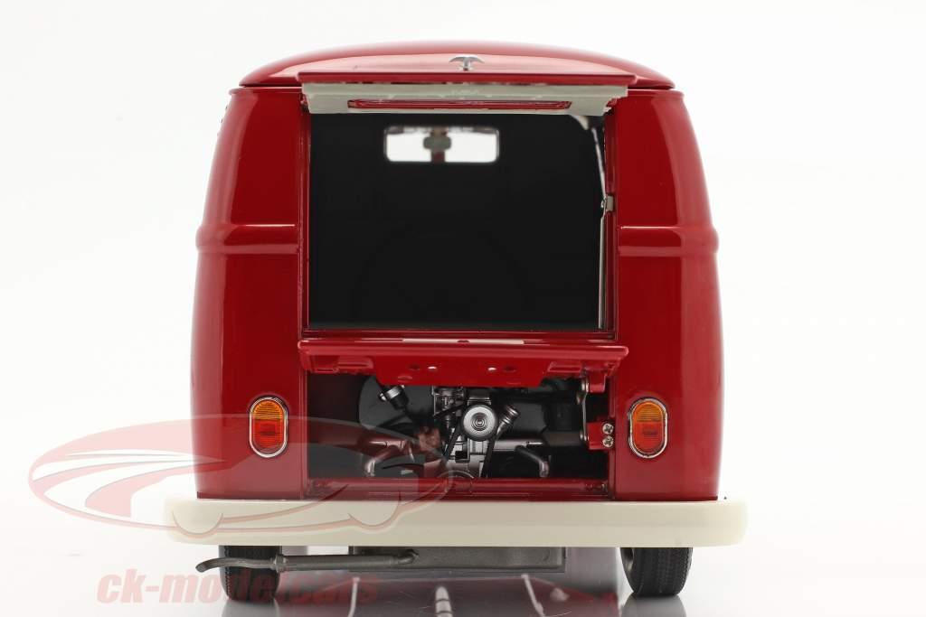Volkswagen VW Typ 2 T1b Varevogn Porsche Renndienst rød 1:18 Schuco