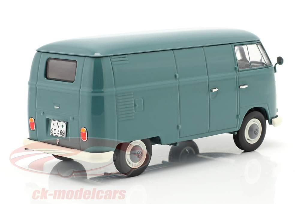 Volkswagen VW Typ 2 T1b Furgone box blu 1:32 Schuco