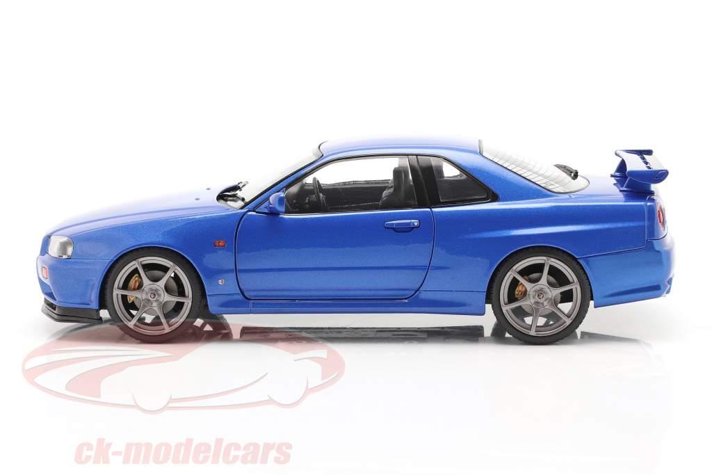 Nissan Skyline GT-R (R34) Anno di costruzione 1999 bayside blu 1:18 Solido