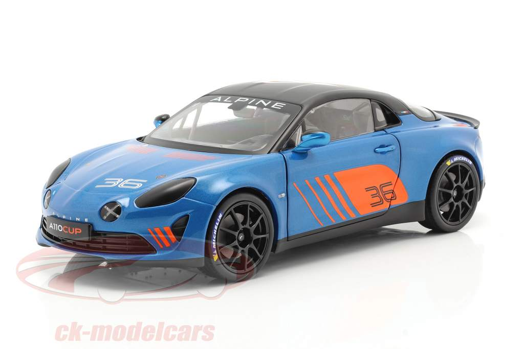 Alpine A110 Cup #36 Launch Livery 2019 blau / orange / schwarz 1:18 Solido