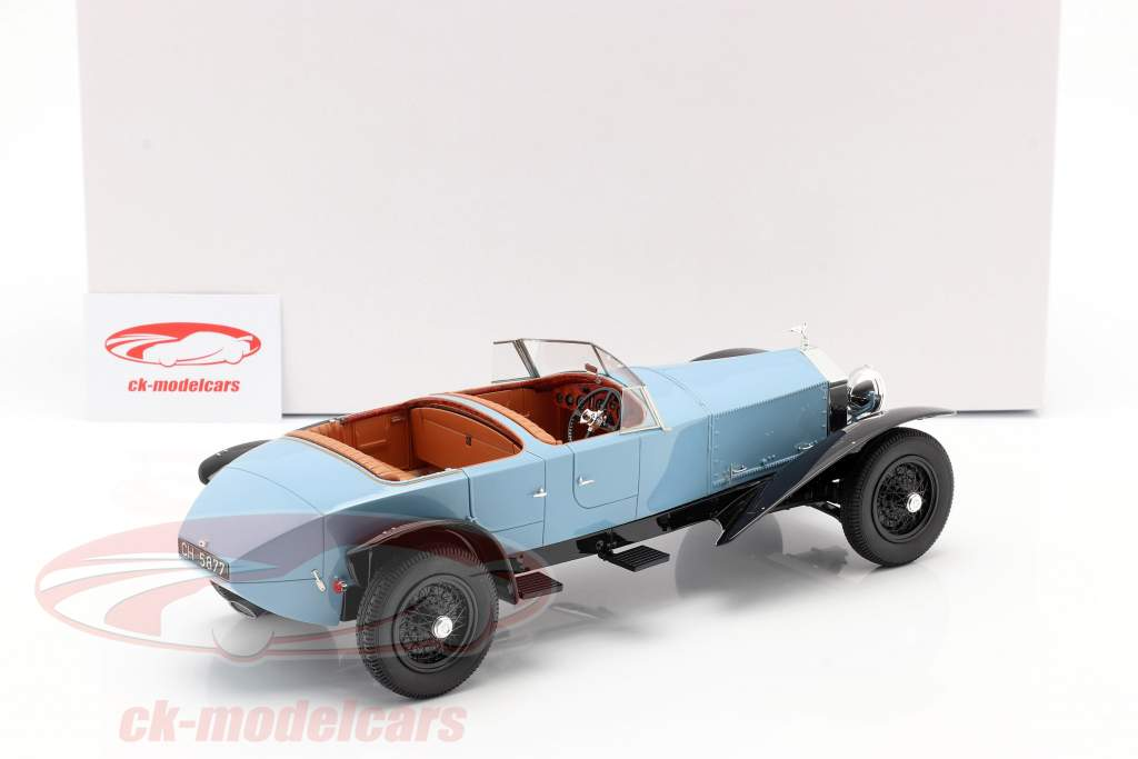 Rolls Royce Phantom Experimental Vehicle by Barker 1926 blå / sort 1:18 Matrix