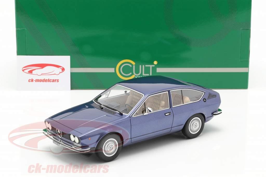 Alfa Romeo Alfetta GT Año de construcción 1975 azul metálico 1:18 Cult Scale