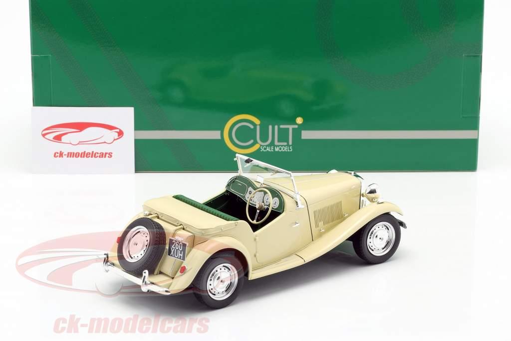 MG TD RHD Byggeår 1953 elfenben 1:18 Cult Scale