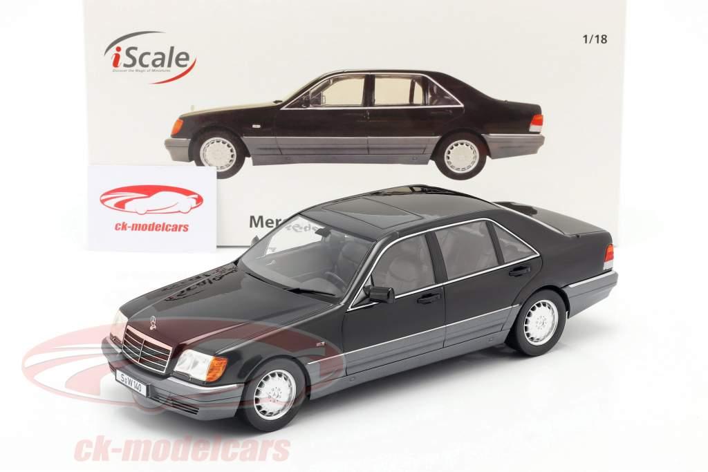 Mercedes-Benz S500 (W140) 建设年份 1994-98 黑色 1:18 iScale
