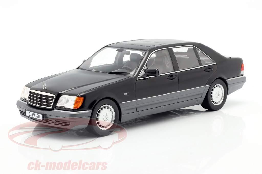 Mercedes-Benz S500 (W140) Baujahr 1994-98 schwarz 1:18 iScale