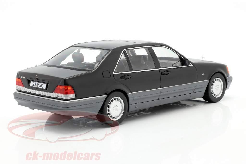 Mercedes-Benz S500 (W140) year 1994-98 black 1:18 iScale