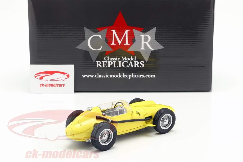 Ferrari Dino 246 formel 1 1958 Plain Body Edition gul 1:18 CMR