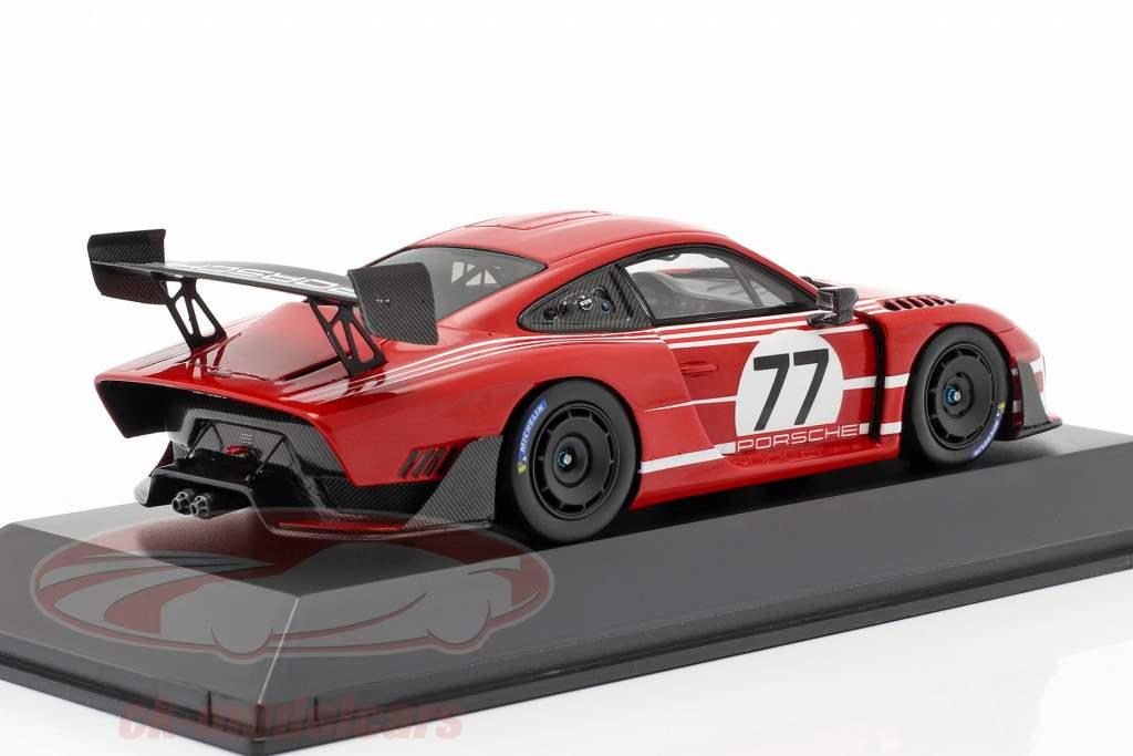 Porsche 935 em Base 911 GT2 RS Clubsport Salzburg #77 vermelho / Branco 1:43 Spark