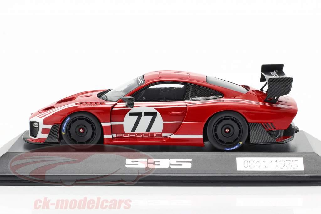 Porsche 935 on Base 911 GT2 RS Clubsport Salzburg #77 red / White 1:43 Spark