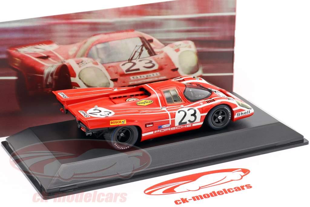Porsche 917 K #23 vinder 24h LeMans 1970 Attwood, Herrmann 1:43 Spark