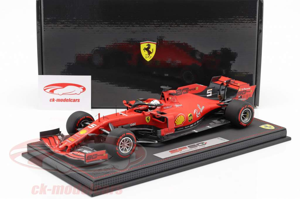 Sebastian Vettel Ferrari SF90 #5 italiano GP fórmula 1 2019 Con Escaparate 1:18 BBR