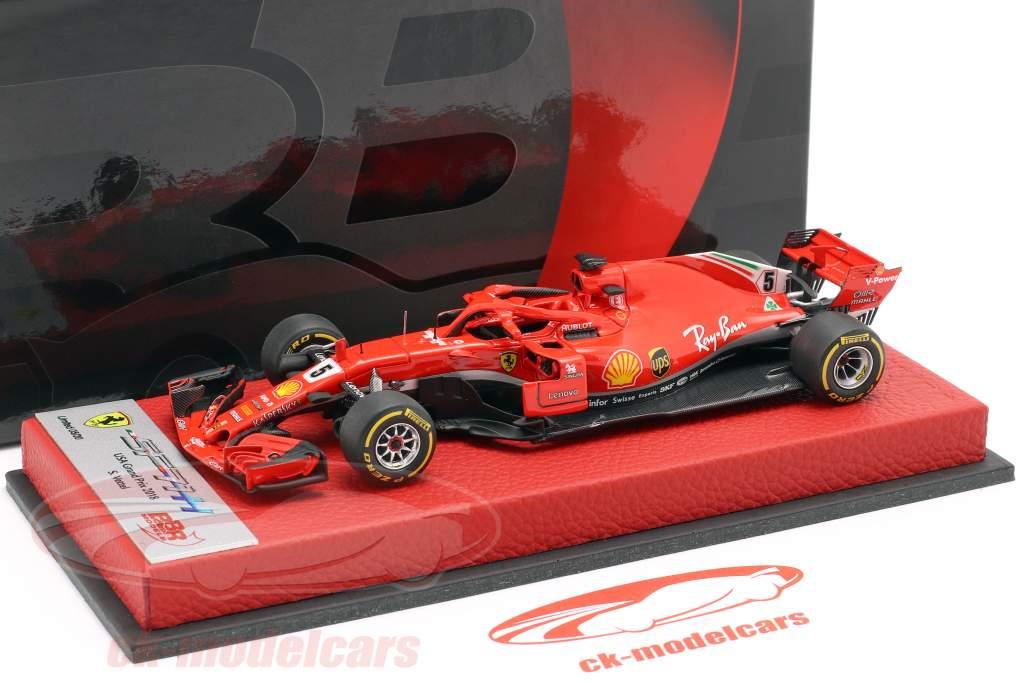 Sebastian Vettel Ferrari SF71H #5 USA GP Formel 1 2018 1:43 BBR